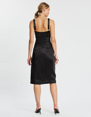 Black Escape Split Dress