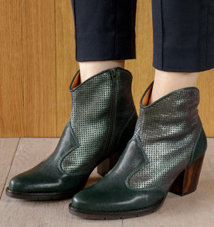 SALIE GREEN ANKLE BOOT