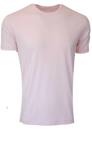Men's Pink SS Crew Neck Tee
