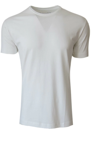 Men's Pima White SS Crew Neck Tee