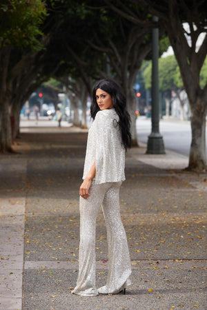 Sequins Bell Bottom Pants