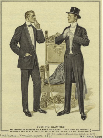 Mens suits, Ny library