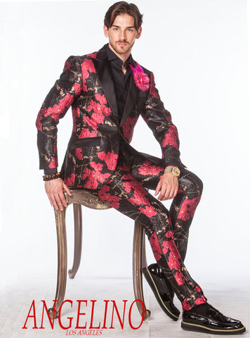pink prom suit