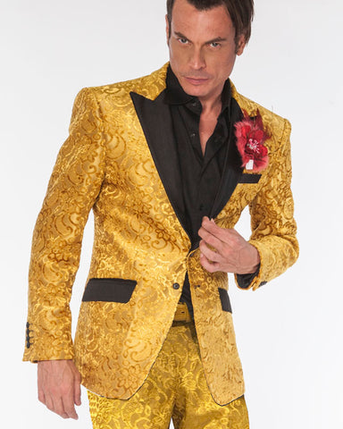 Prom Suit Gold