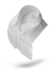 Men's Fashion Angelino Shirt High Collar White - ANGELINO