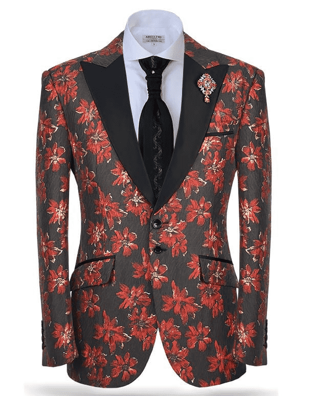red fashion suits for men