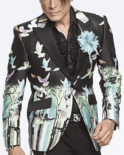 Mens Fashion Blazer Birds - ANGELINO