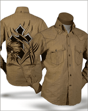 Men's Fashion Shirt - Indian Beige - ANGELINO