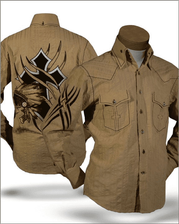 Men's New Fashion Angelino shirt Indian Beige - ANGELINO