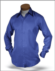 Men's Fashion Angelino Silk Shirts SJ Blue 2 - ANGELINO