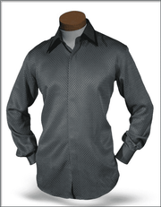 Men's Fashion Silk Shirts SJ Gray 2 - ANGELINO