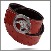 Men's Exciting Fashion Angelino Belts #300 Red - ANGELINO