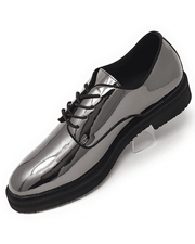 Men's Fashion Shoes Tap Silver - ANGELINO