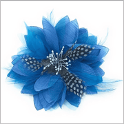 blue lapel flower