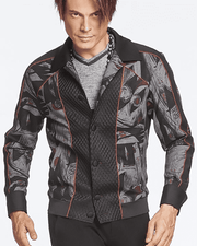 Men's Fashion Bomber Picasso Jacket - ANGELINO