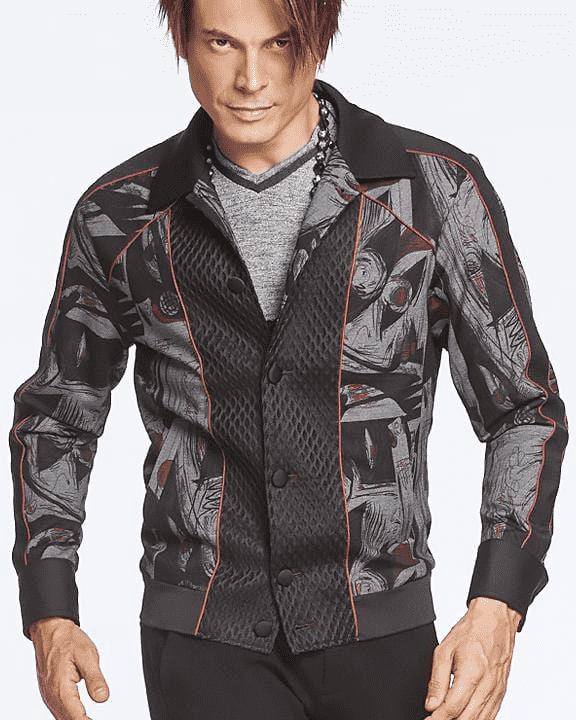 Men's Fashion On Trend Bomber Picasso Jacket | ANGELINO