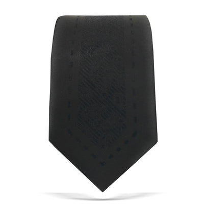 Fashion Necktie, black skinny tie.