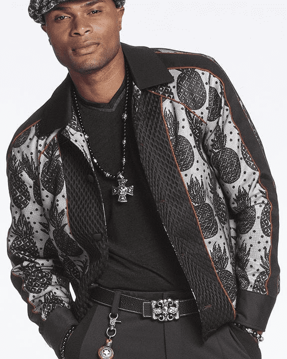 Men's Fashion Bomber Jacket Pineapple - ANGELINO