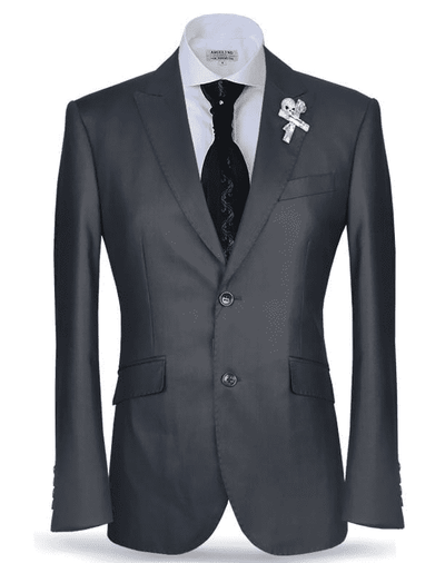 Men's Suit, New Classic Suit2 Charcoal - ANGELINO