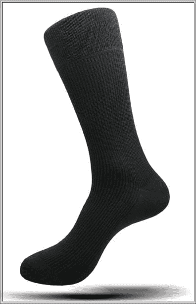 Men's Fashion Mercerized Cotton Socks Solid Black - ANGELINO