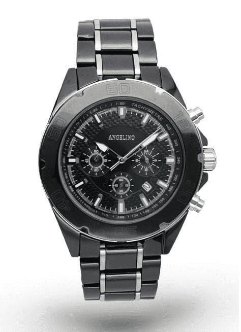Mens Fashion Watch Ceramic Black - Men's - styles - Fashion - ANGELINO