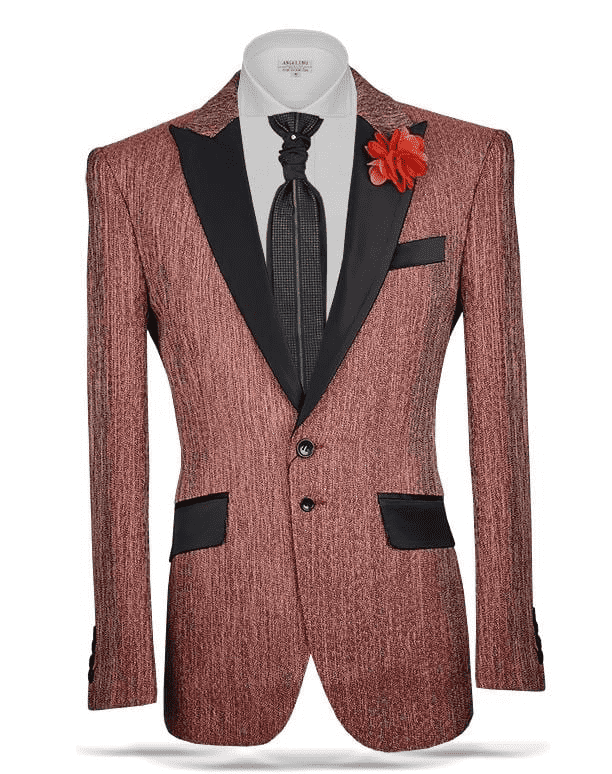 Men's New Fashion Sport Coat/Blazer Grant Rust - ANGELINO