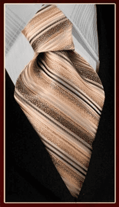 necktie mf371-3, woven ties, classic ties, fashion ties, beige tan and brown tie