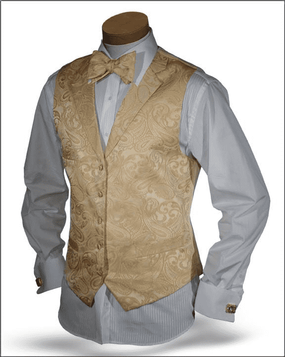 Men's New Fashion Angelino Vest Set Pillipo Yellow - ANGELINO