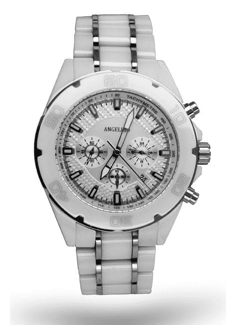 Men's Fashion Watch Ceramic White - Fashion - Styles - Men's - ANGELINO