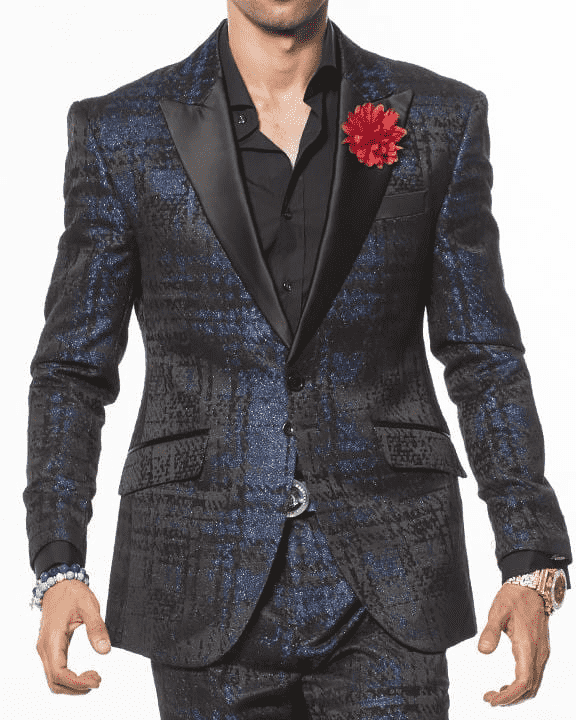 Men's fashion Suit-Fabio Blue - ANGELINO