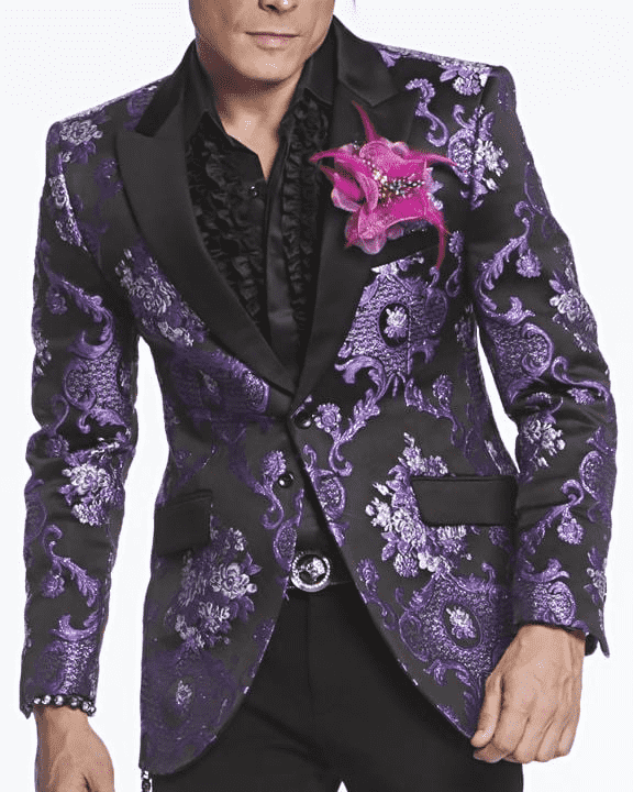 Men's Fashion Blazer Savile Purple - ANGELINO