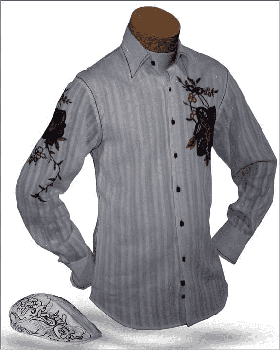 Men's New Fashion Angelino Shirts Amato White - ANGELINO