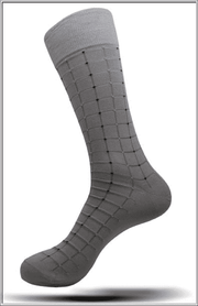 Men's Fashion Mercerized Cotton Socks SK11 gray - ANGELINO