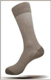 Men's Fashion Mercerized Cotton Socks SK19 5 Tan - ANGELINO