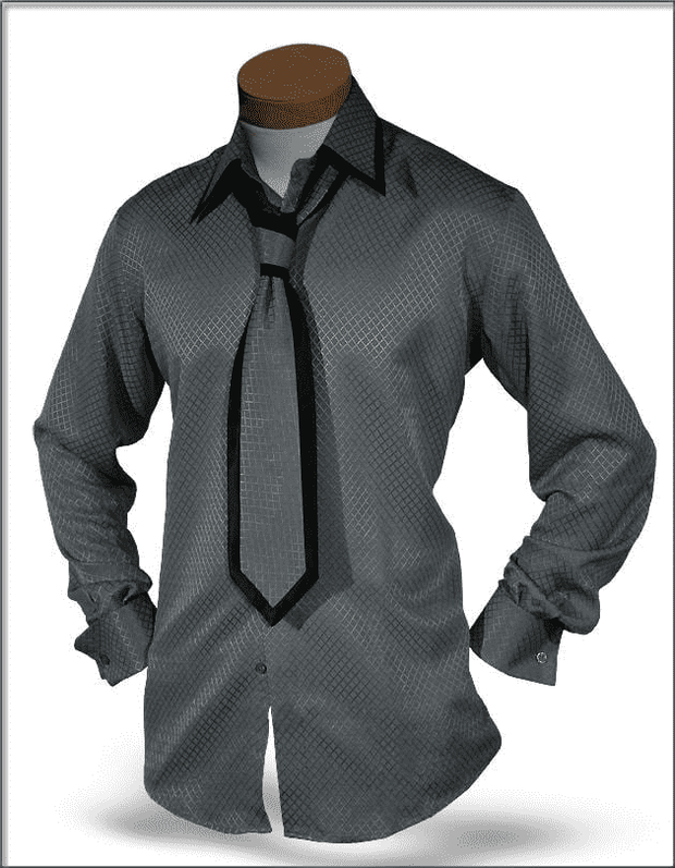 Premium Angelino Silk Shirts - SJ Gray