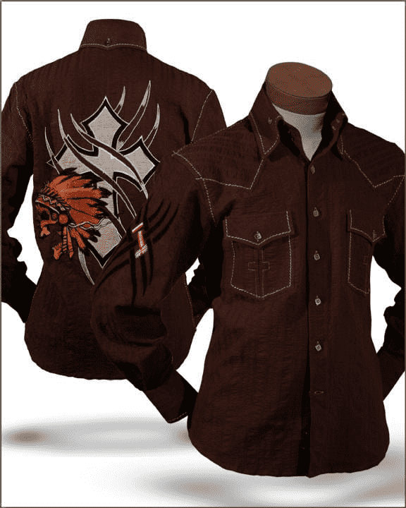 Men's Fashion Shirt - Indian Brown - ANGELINO