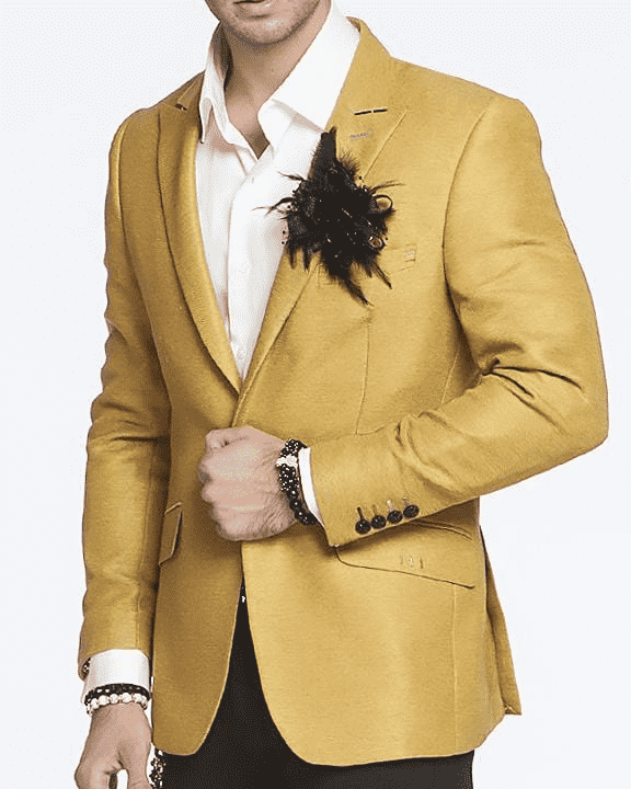 Stunning fashion blazer/sport coat in gold color