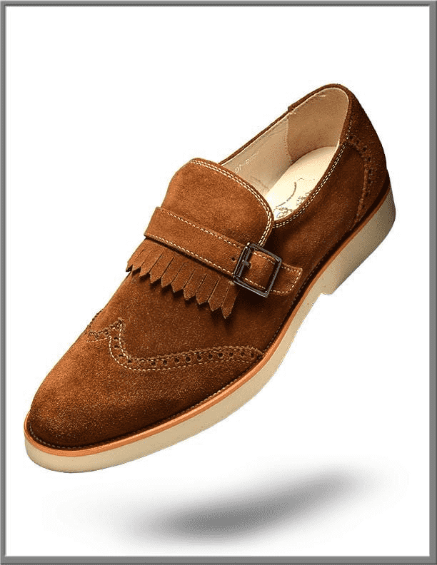 Men's Tassel Fridge Suede shoes Leather Suede Brown - ANGELINO