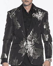 Men's New Fashion Blazer and Sport Coat Ross Silver - ANGELINO