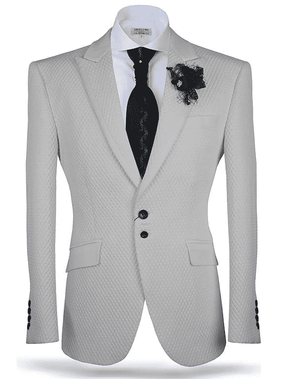 Angelino Sport Coat/Blazer-Vito White cutting edge