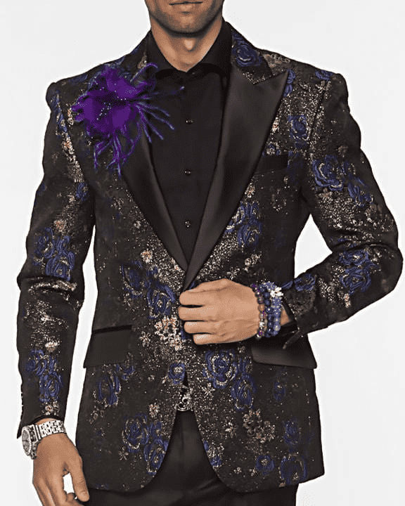 Men's New Fashion Blazer and Sport Coat Frank Blue - ANGELINO