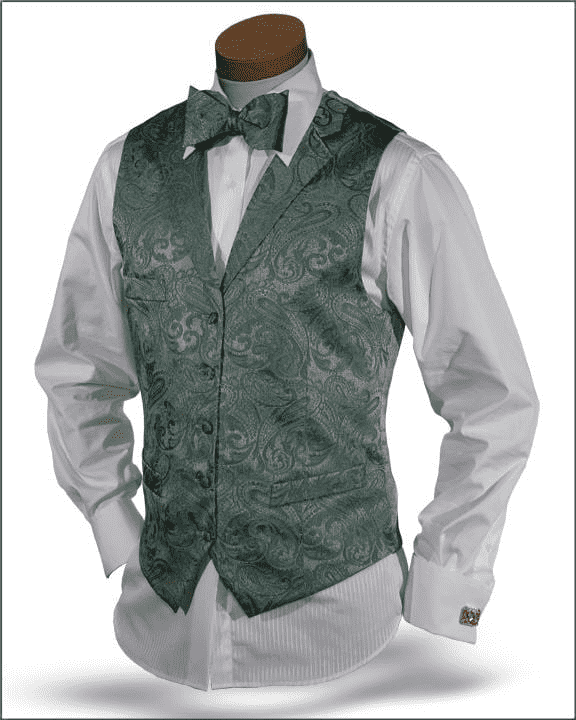 Men's New Fashion Angelino Vest Set Pillipo Green - ANGELINO