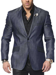 Fashion Jacket, Denim AR Blue, Sport Coat - Mens - Fashion - ANGELINO