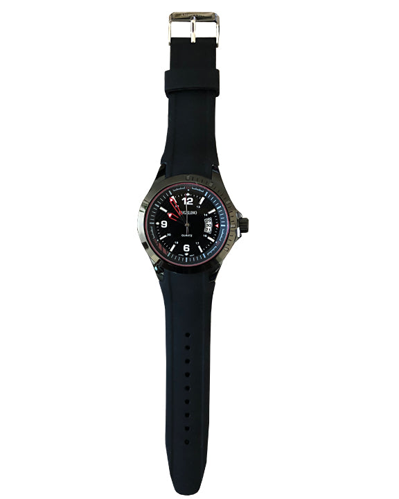 Men's fashion watch, black color-2