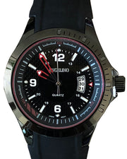 Men's fashion watch, black color