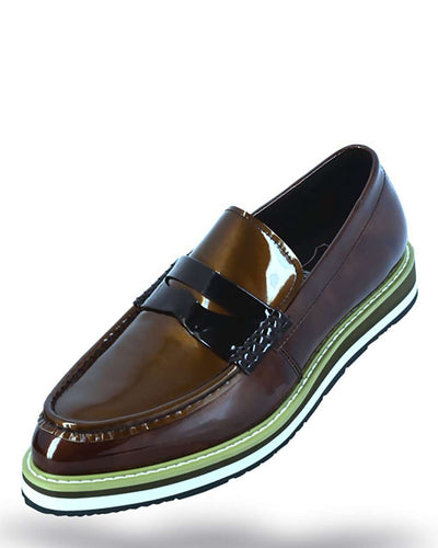 Men's Leather loafer Coffee - ANGELINO