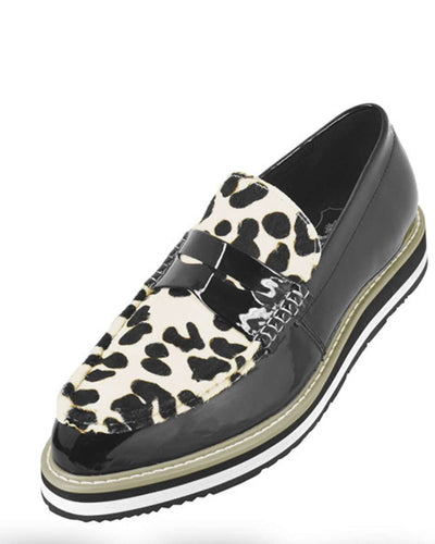 Men's Leather Loafer - Bahama Tiger Black - Fashion - Mens - ANGELINO