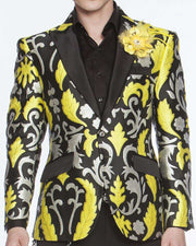 Men's Fashion Lapel Flower Flower3 Yellow
