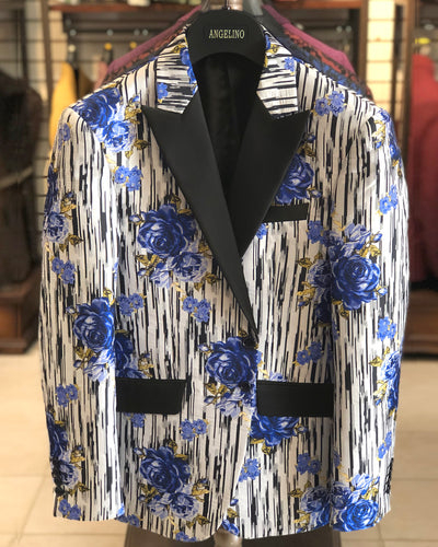 Men's Dinner Blazer - Rose Blue - prom - wedding - sport coat - ANGELINO