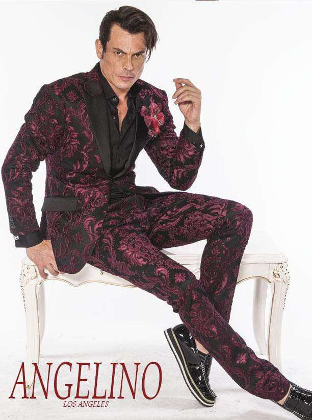 Mens Suits, Tango Burgundy - Prom - Mens - Suits - ANGELINO